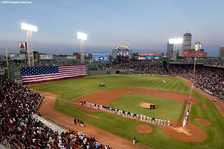 Francois Illas New Tradition: Boston Red Sox Photography: Tuesday, September 11, 2012 Vs