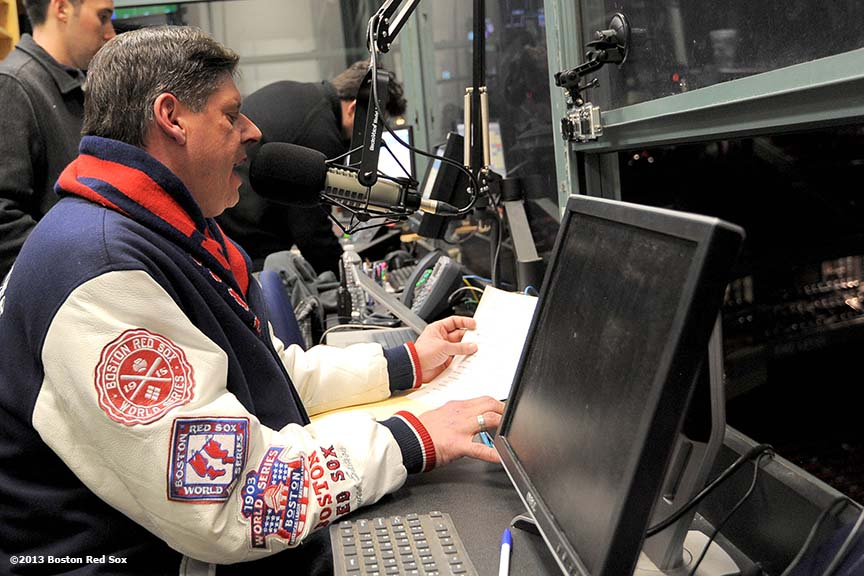 """The Boston Red Sox hosted a tryout in Fenway Park's control room to begin the search process for the next Public Address Announcer of the Boston Red Sox. Applicants were asked to record a sample pre-game ceremony introduction."""