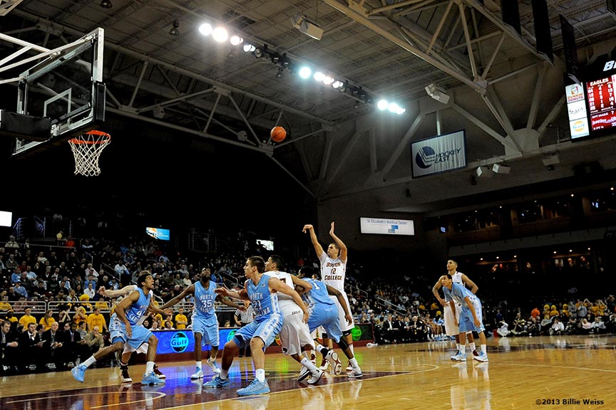 """""""Boston College Eagles forward Ryan Anderson shoots a free throw during the second half of a men's basketball game at Conte Forum at Boston College in Chestnut Hill, Massachusetts Tuesday, January 29, 2013. North Carolina defeated Boston College 82-70."""""""