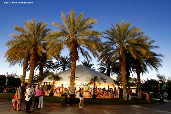 """The Indian Wells Tennis Garden Corona Plaza is shown Wednesday, March 13, 2013 at the BNP Paribas Open in Indian Wells, California."""