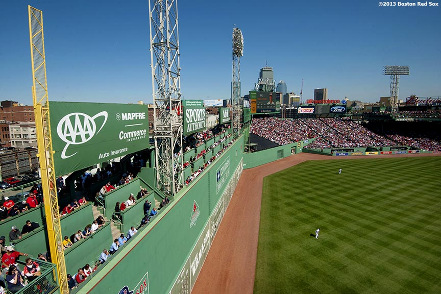 """""""The Boston Red Sox host a pre-game ceremony during the 2013 home opener at Fenway Park Monday, April 9, 2013."""""""