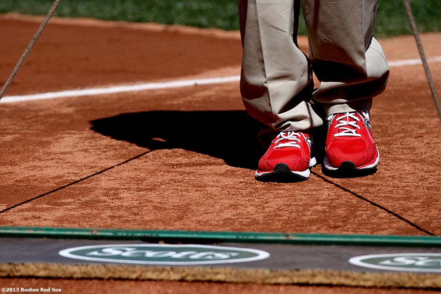 """The Boston Red Sox host a pre-game ceremony during the 2013 home opener at Fenway Park Monday, April 9, 2013."""