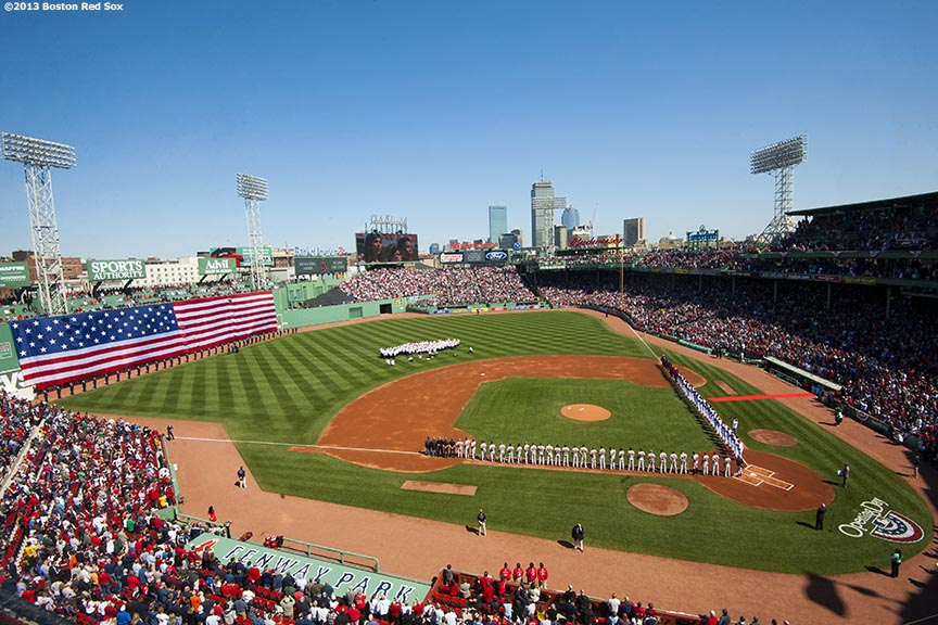 The Boston Red Sox Host A Pre Game Ceremony During 2013 Home Opener