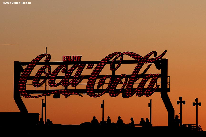 """The Coca-Cola deck is shown during a game between the Boston Red Sox and the Philadelphia Phillies at Fenway Park in Boston, Massachusetts Monday, May 27, 2013."""
