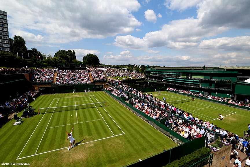 """The grounds at the All England Lawn and Tennis Club in London, England are shown Tuesday, June 25, 2013 during the 2013 Championships Wimbledon."""