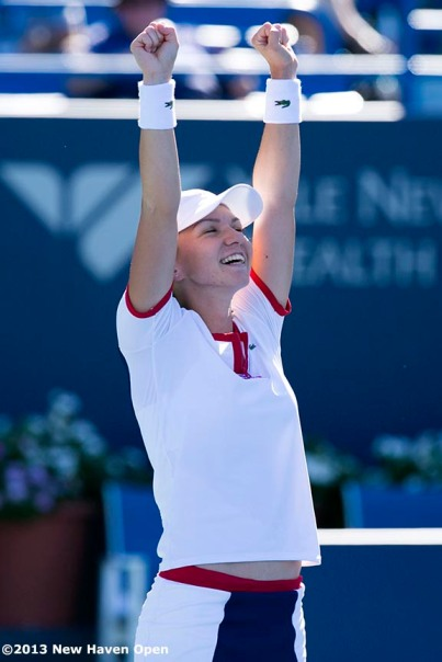 """on Day 9 of the New Haven Open at Yale University in New Haven, Connecticut Saturday, August 20, 2013."""""""
