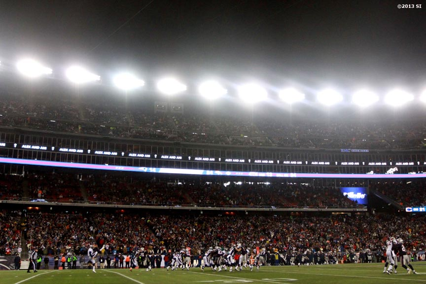 """The New England Patriots play the Denver Broncos Sunday, November 24, 2013 at Gillette Stadium in Foxborough, Massachusetts."""