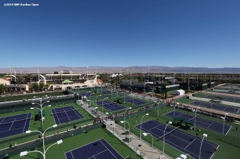 """An aerial view of the Indian Wells Tennis Garden is shown Saturday, March 8, 2014 in Indian Wells, California."""