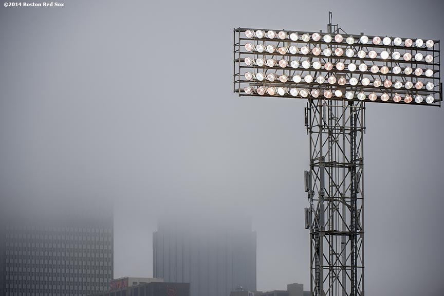 """Lights are shown during the first game of a day-night double header between the Boston Red Sox and the Tampa Bay Rays Thursday, May 1, 2014 at Fenway Park in Boston, Massachusetts."""