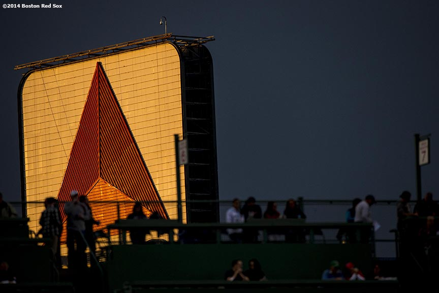 """The Kenmore Square Citgo sign is shown before a game between the Boston Red Sox and the Detroit Tigers at Fenway Park in Boston, Massachusetts Sunday, May 18, 2014."""