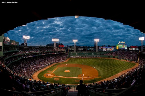 """Fenway Park is shown during a game between the Boston Red Sox and the Toronto Blue Jays Tuesday, July 29, 2014."""