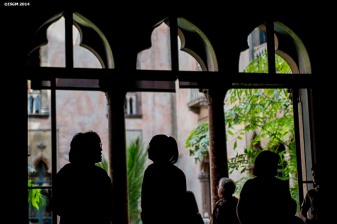 """""""Guests visit a gallery during a Free Fun Friday event sponsored by the Highland Street Foundation at the Isabella Stewart Gardner Museum in Boston, Massachusetts Friday, August 1, 2014."""""""