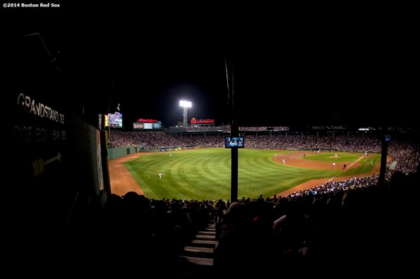 """""""Fenway Park is shown during a game between the Boston Red Sox and the New York Yankees Sunday, August 3, 2014 in Boston, Massachusetts.'"""