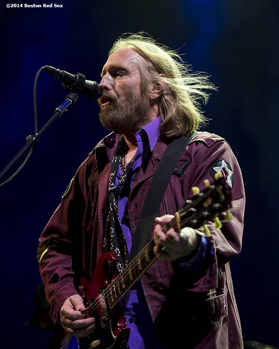 """""""Tom Petty performs during a concert with Steve Winwood at Fenway Park in Boston, Massachusetts Saturday, August 30, 2014."""""""