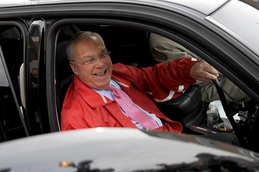 """Thomas M. Menino, Mayor of Boston, takes part in an annual tour of Fenway Park before the start of the 2013 season. """