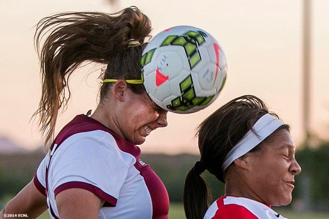 """Game action during an Elite Clubs National League (ECNL) soccer tournament at the Reach 11 Sports Complex in Phoenix, Arizona Saturday, November 15, 2014."""