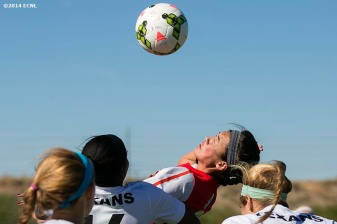 """Game action during an Elite Clubs National League (ECNL) soccer tournament at the Reach 11 Sports Complex in Phoenix, Arizona Sunday, November 16, 2014."""