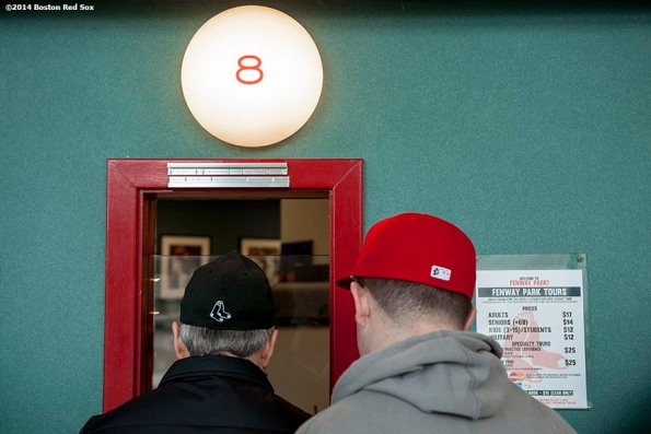 """""""Fans purchase tickets at the box office during Christmas At Fenway Saturday, December 13, 2014 at Fenway Park in Boston, Massachusetts."""""""