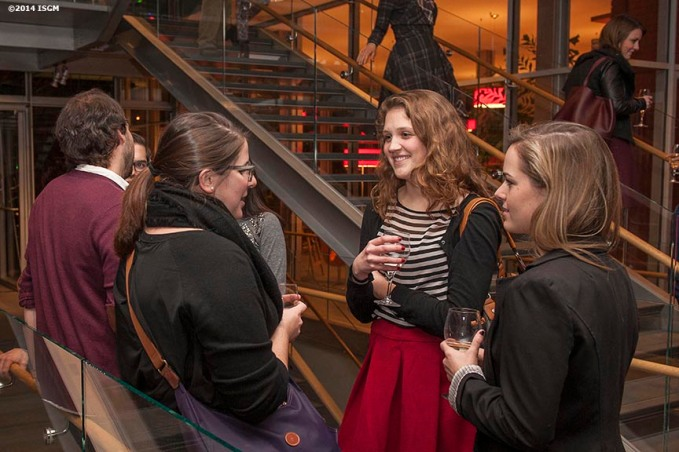 """""""Guests mingle in the library during a 'Winter Solstice' themed Third Thursdays at the Isabella Stewart Gardner Museum in Boston, Massachusetts Thursday, December 18, 2014."""""""