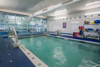 """The therapy swimming pool is shown at the Weymouth Club Tennis & Fitness Center in Weymouth, Massachusetts Sunday, December 21, 2014."""