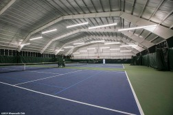 """The indoor tennis courts are shown at the Weymouth Club Tennis & Fitness Center in Weymouth, Massachusetts Sunday, December 21, 2014."""