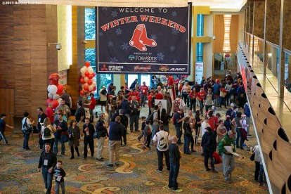 """Fans attend the Red Sox Winter Weekend at Foxwoods Resort and Casino in Ledyard, Connecticut Saturday, January 24, 2015."""