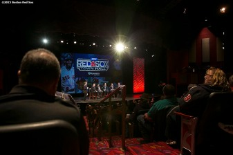 """Fans attend the fifth annual NESN Town Hall during the Red Sox Winter Weekend at Foxwoods Resort and Casino in Ledyard, Connecticut Friday, January 23, 2015."""