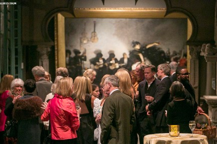 """Guests attend a capital campaign fundraiser event at the Isabella Stewart Gardner Museum in Boston, Massachusetts Saturday, January 31, 2015."""