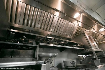 """A newly installed Eco Thermal Filter System is shown in the kitchen of The Stockyard Steakhouse restaurant in Brighton, Massachusetts Tuesday, February 10, 2015."""