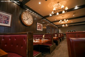"""The eating area of the Stockyard Steakhouse restaurant in Brighton, Massachusetts is shown Tuesday, February 10, 2015."""