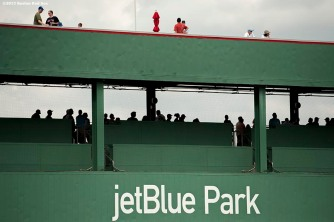 """Fans line up to receive autographs during an open house at JetBlue Park in Fort Myers, Florida Saturday, February 28, 2015."""