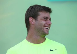 """Ryan Harrison participates in the ATP draw ceremony at the Indian Wells Tennis Garden in Indian Wells, California Tuesday, March 10, 2015."""