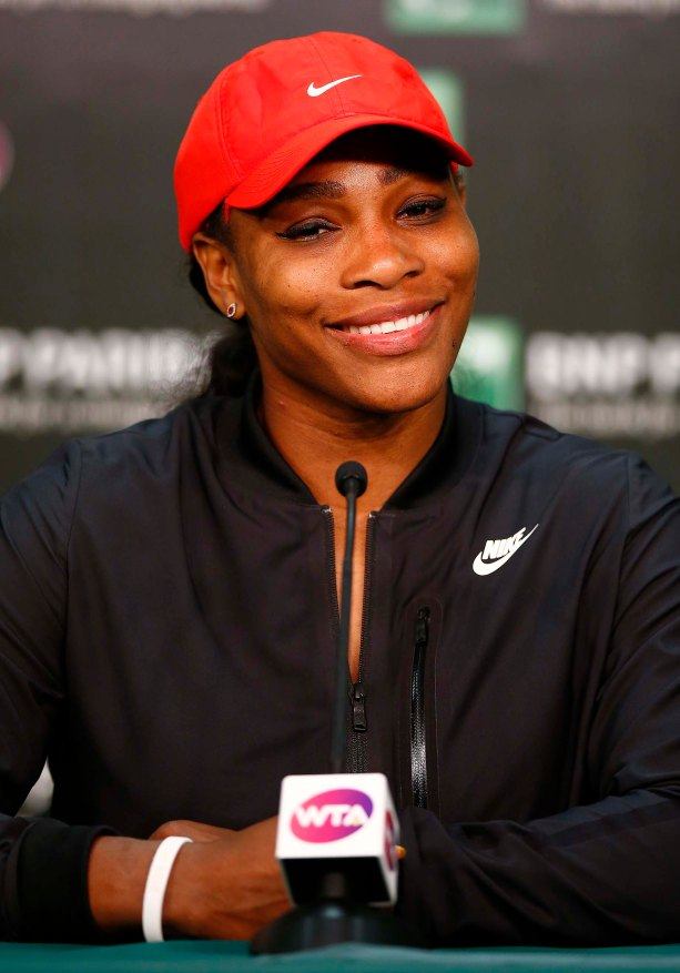 """Serena Williams speaks during a post-match press conference following her win against Monica Niculescu at the Indian Wells Tennis Garden in Indian Wells, California on Friday, March 13, 2015."""