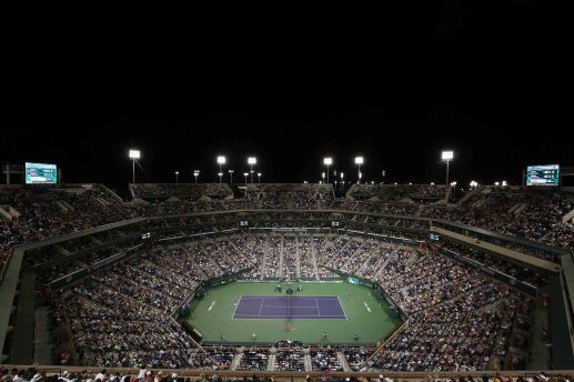"""A general view of the Indian Wells Tennis Garden grounds is shown around stadium 1 in Indian Wells, California on Saturday, March 14, 2015."""