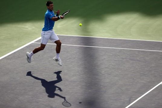 """The 2015 BNP Paribas Open Men's Singles Final between Novak Djokovic and Roger Federer in Indian Wells, California on Sunday, March 22, 2015."""