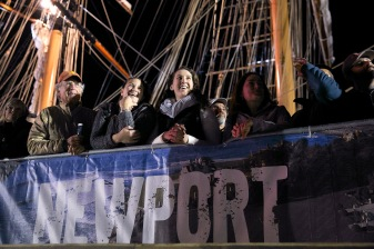 NEWPORT, RI - MAY 07: In this handout image provided by the Volvo Ocean Race, xxxxx during the finish of Leg 6 from Itajai to Newport on May 7, 2015 in Newport, Rhode Island. The Volvo Ocean Race 2014-15 is the 12th running of this ocean marathon. Starting from Alicante in Spain on October 11, 2014, the route, spanning some 39,379 nautical miles, visits 11 ports in eleven countries (Spain, South Africa, United Arab Emirates, China, New Zealand, Brazil, United States, Portugal, France, The Netherlands and Sweden) over nine months. The Volvo Ocean Race is the world's premier ocean yacht race for professional racing crews. (Photo by Billie Weiss / Volvo Ocean Race via Getty Images)