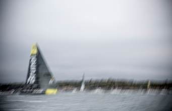 NEWPORT, RI - MAY 16: In this handout image provided by the Volvo Ocean Race, Team Brunel is shown during the Newport In-Port Race ahead of Leg 7 from Newport to Lisbon on May 16, 2015 in Newport, Rhodes Island. The Volvo Ocean Race 2014-15 is the 12th running of this ocean marathon. Starting from Alicante in Spain on October 04, 2014, the route, spanning some 39,379 nautical miles, visits 11 ports in eleven countries (Spain, South Africa, United Arab Emirates, China, New Zealand, Brazil, United States, Portugal, France, The Netherlands and Sweden) over nine months. The Volvo Ocean Race is the world's premier ocean yacht race for professional racing crews. (Photo by Billie Weiss / Volvo Ocean Race via Getty Images)