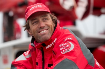NEWPORT, RI - MAY 16: In this handout image provided by the Volvo Ocean Race, Mapfre captain Iker Martinez smiles after placing first during the Newport In-Port Race ahead of Leg 7 from Newport to Lisbon on May 16, 2015 in Newport, Rhodes Island. The Volvo Ocean Race 2014-15 is the 12th running of this ocean marathon. Starting from Alicante in Spain on October 04, 2014, the route, spanning some 39,379 nautical miles, visits 11 ports in eleven countries (Spain, South Africa, United Arab Emirates, China, New Zealand, Brazil, United States, Portugal, France, The Netherlands and Sweden) over nine months. The Volvo Ocean Race is the world's premier ocean yacht race for professional racing crews. (Photo by Billie Weiss / Volvo Ocean Race via Getty Images)