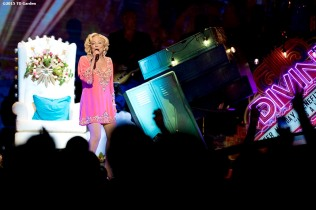 """Singer Bette Midler performs during a concert at the TD Garden in Boston, Massachusetts Friday, June 12, 2015."""