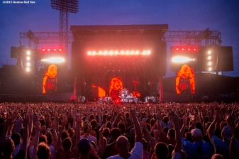 """""""Fans cheer during a Foo Fighters concert at Fenway Park in Boston, Massachusetts Sunday, July 19, 2015."""""""