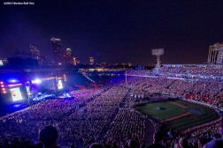 """Fenway Park is shown during a Foo Fighters concert at Fenway Park in Boston, Massachusetts Sunday, July 19, 2015."""