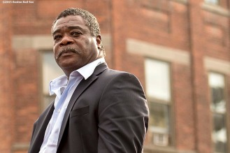 """""""Hall of Famer Eddie Murray looks on during the Hall of Famers parade during the 2015 Hall of Fame weekend at the National Baseball Hall of Fame in Cooperstown, New York Saturday, July 25, 2015."""""""