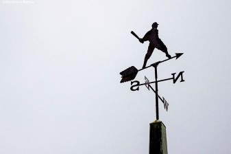 """A weather vane is shown during the 2015 Hall of Fame weekend at the National Baseball Hall of Fame in Cooperstown, New York Sunday, July 26, 2015."""