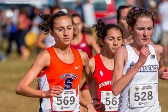"""""""The Syracuse University Cross Country team competes in the Coast to Coast Battle in Beantown cross country meet at Franklin Park Zoo in Boston, Massachusetts Friday, September 25, 2015."""""""