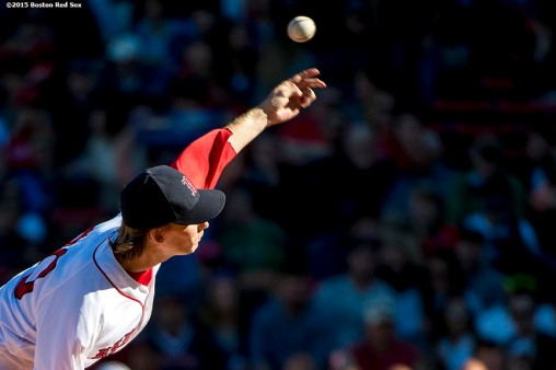 """Boston Red Sox pitcher Henry Owens delivers during the fourth inning of a game against the Baltimore Orioles at Fenway Park in Boston, Massachusetts Sunday, September 27, 2015."""