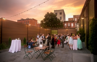 """The wedding of Chloe Scott-Giry and Nathan Einschlag at The Wythe Hotel and The Green Building in Brooklyn, New York Thursday, July 30, 2015."""