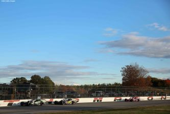 THOMPSON, CT - OCTOBER 18: Race action during the NASCAR Whelen Modified Tour SUNOCO World Series 150 at Thompson Speedway on October 18, 2015 in Thompson, Connecticut. (Photo by Billie Weiss/NASCAR/NASCAR via Getty Images)