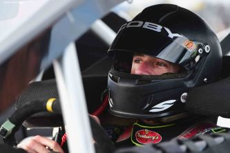 THOMPSON, CT - OCTOBER 18: Doug Coby #2 looks on in the driver's seat before the NASCAR Whelen Modified Tour SUNOCO World Series 150 at Thompson Speedway on October 18, 2015 in Thompson, Connecticut. (Photo by Billie Weiss/NASCAR/NASCAR via Getty Images)