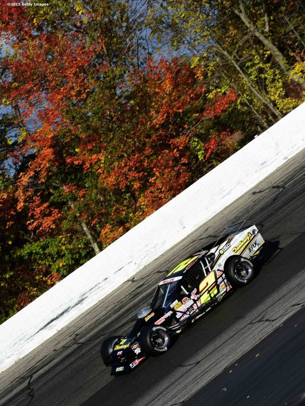 THOMPSON, CT - OCTOBER 18: Doug Coby #2 in action during the NASCAR Whelen Modified Tour SUNOCO World Series 150 at Thompson Speedway on October 18, 2015 in Thompson, Connecticut. (Photo by Billie Weiss/NASCAR/NASCAR via Getty Images)