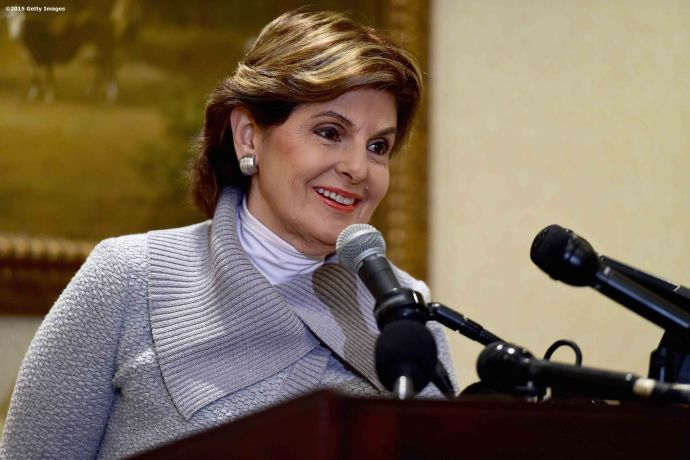 BOSTON, MA - OCTOBER 10: Attorney Gloria Allred holds a press conference on the status of Judy Huth v. William H. Cosby at the Omni Hotel on October 10, 2015 in Boston, Massachusetts. (Photo by Billie Weiss/Getty Images)